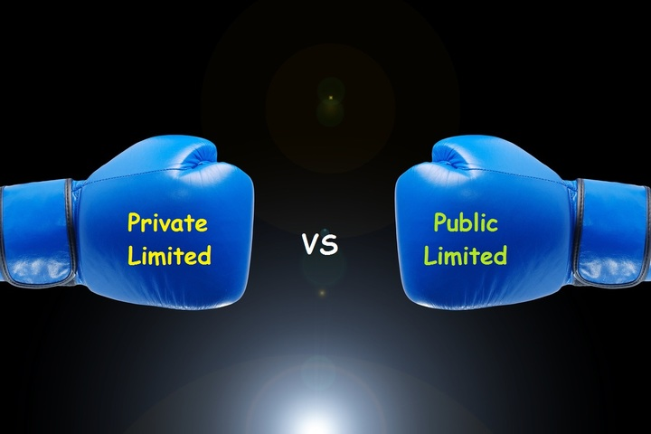 Private limited ans Public limited companies