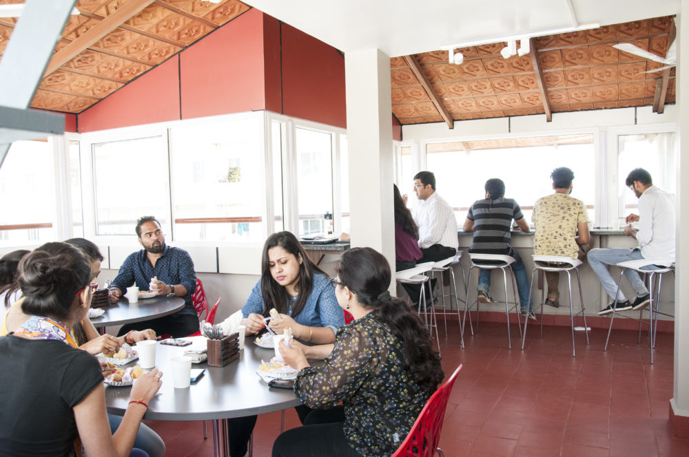 Evoma coworking space pantry, whitefield