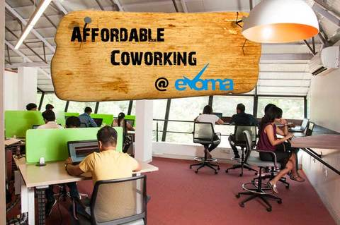 Affordable Coworking space at Evoma