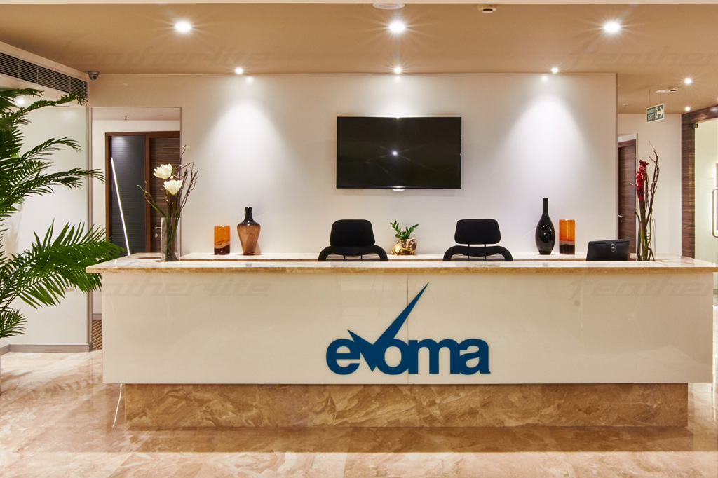 Evoma office space Frontdesk