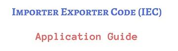 IEC Import Export License application