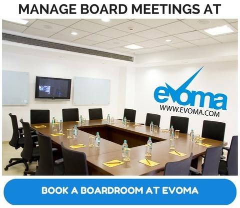 Evoma boardroom in Bangalore