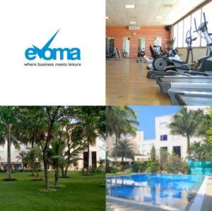 Evoma workspace Bangalore health fitness