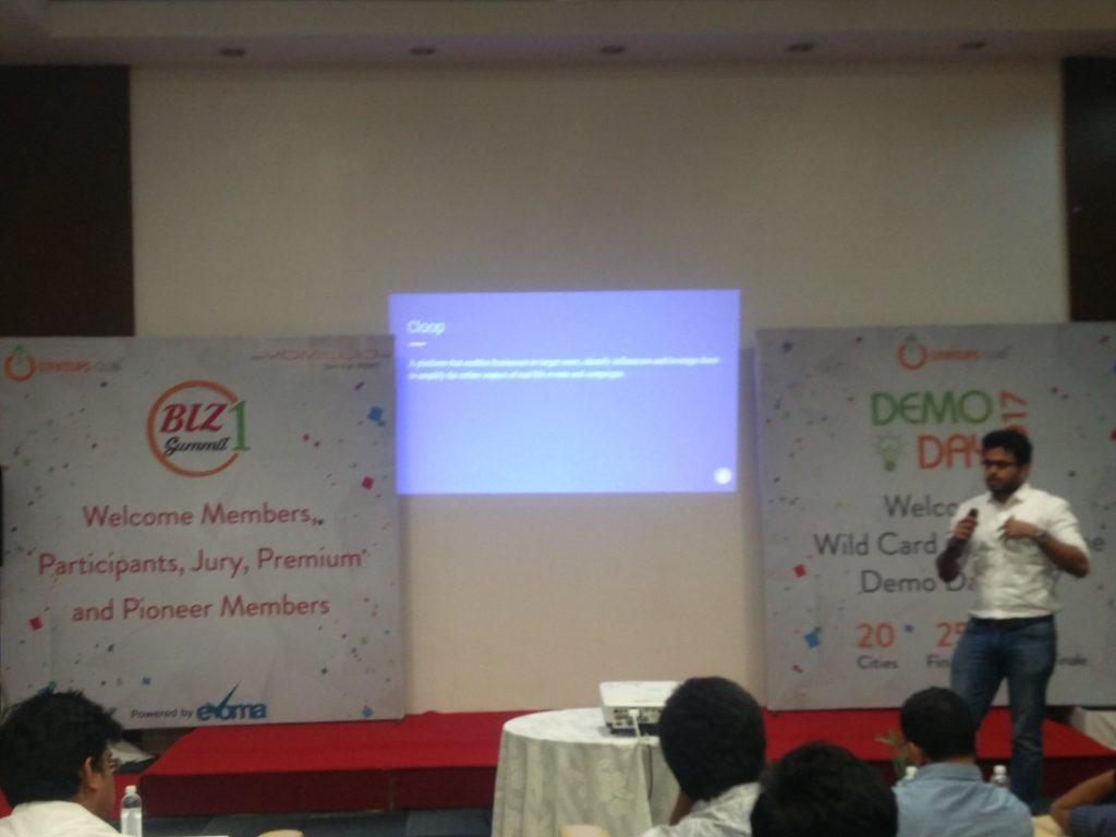 Cloop at Evoma Biz Summit in Bangalore