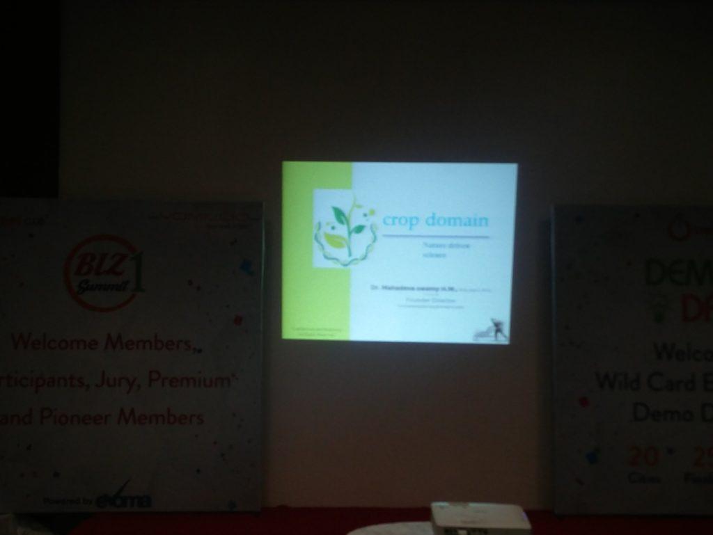 Crop Domain at Evoma Biz Summit in Bangalore