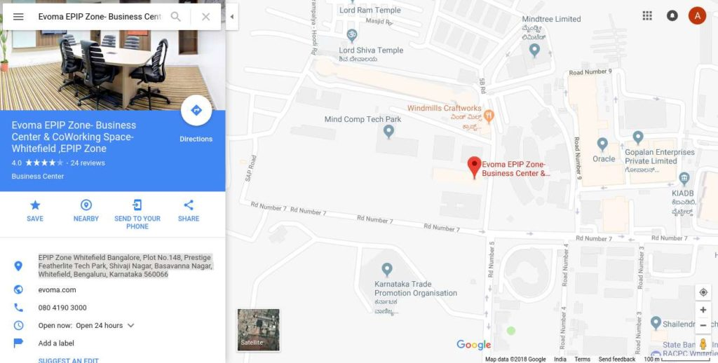 evoma EPIP Zone, Whitefield, Bangalore, next to kiadb