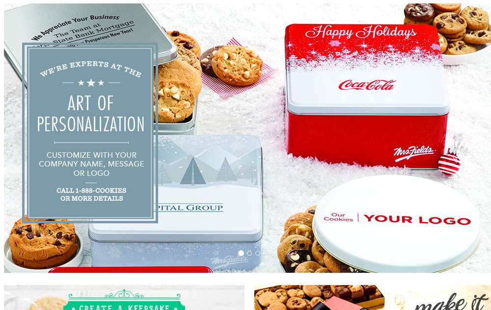 Mrs. Fields corporate gifts