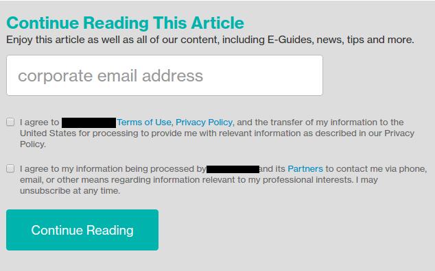 data policy screenshot