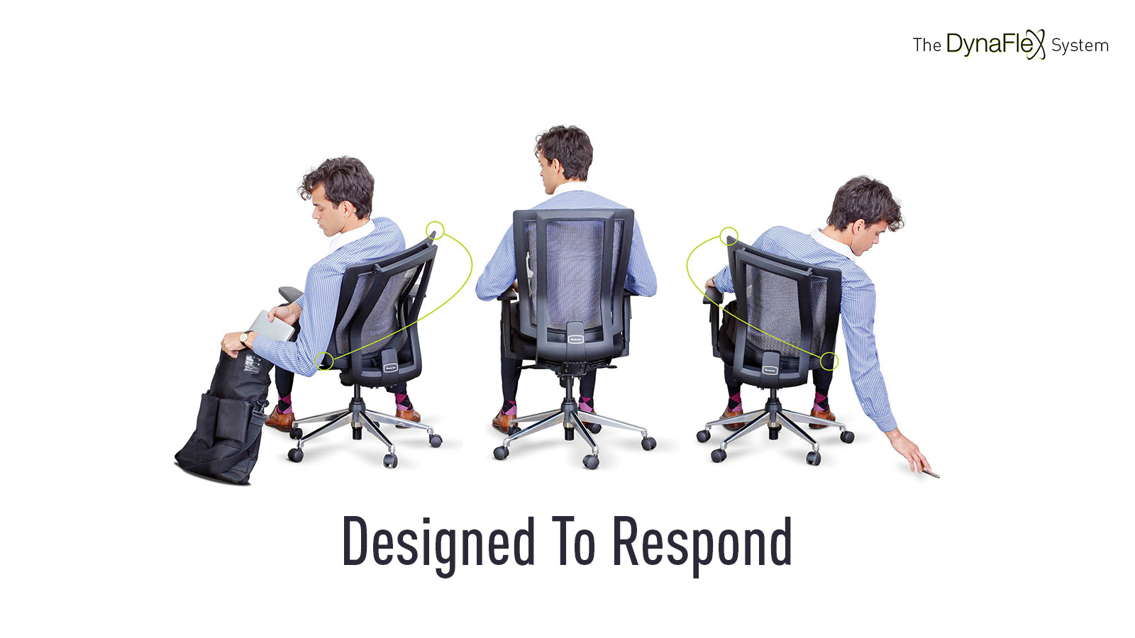 Flexible office chairs