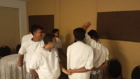 Team building exercises at Evoma Bangalore