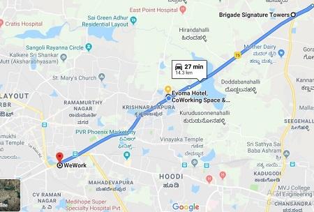 evoma kr puram tech park zone for it jobs
